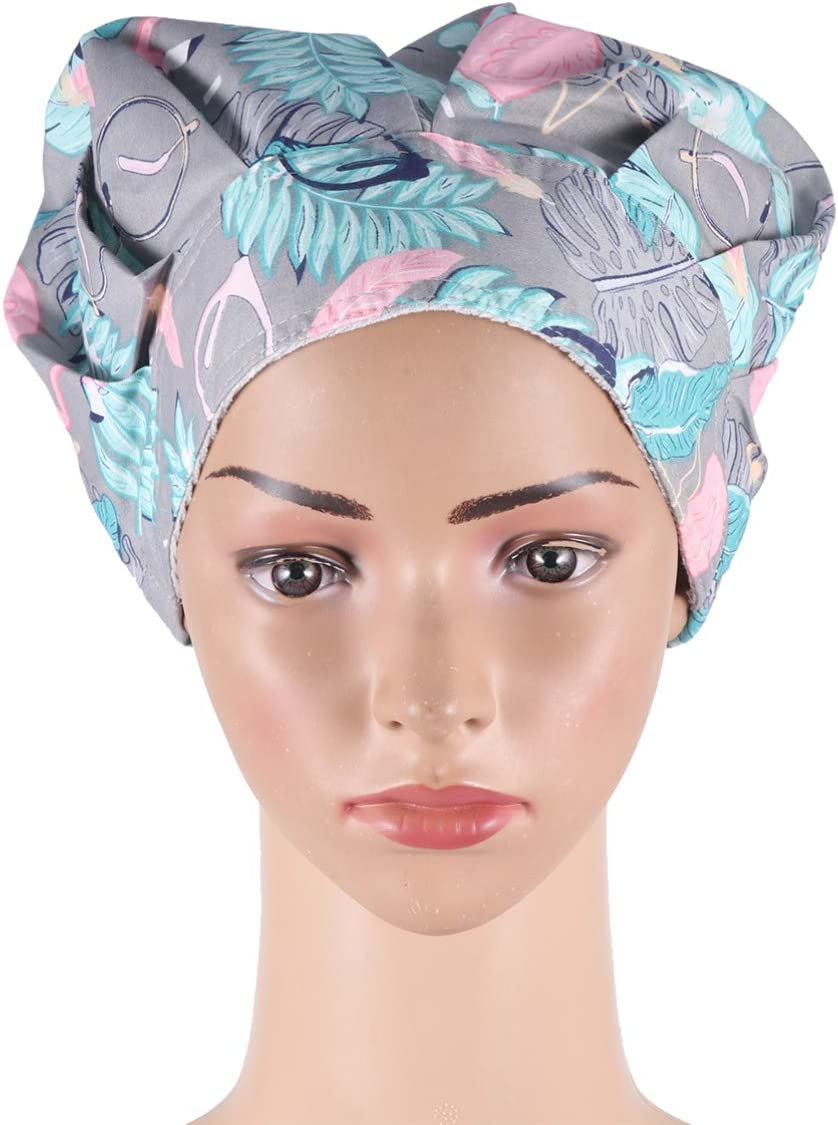 PRETYZOOM Doctor Nurse Scrub Cap Surgical Hat Bouffant Turban Cap with Sweatband Scrub Hat for Women//Men