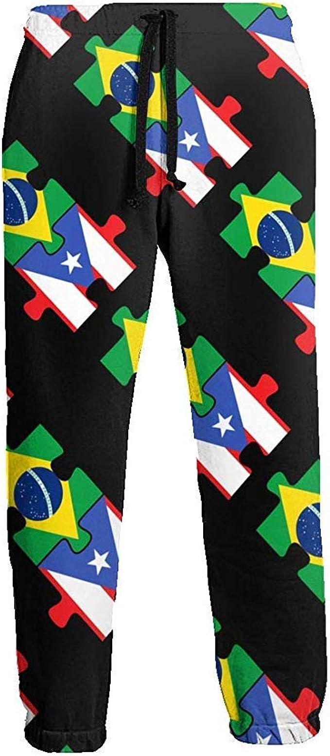 Emild Pantalones de chándal para Hombre Brasil Puerto Rico ...