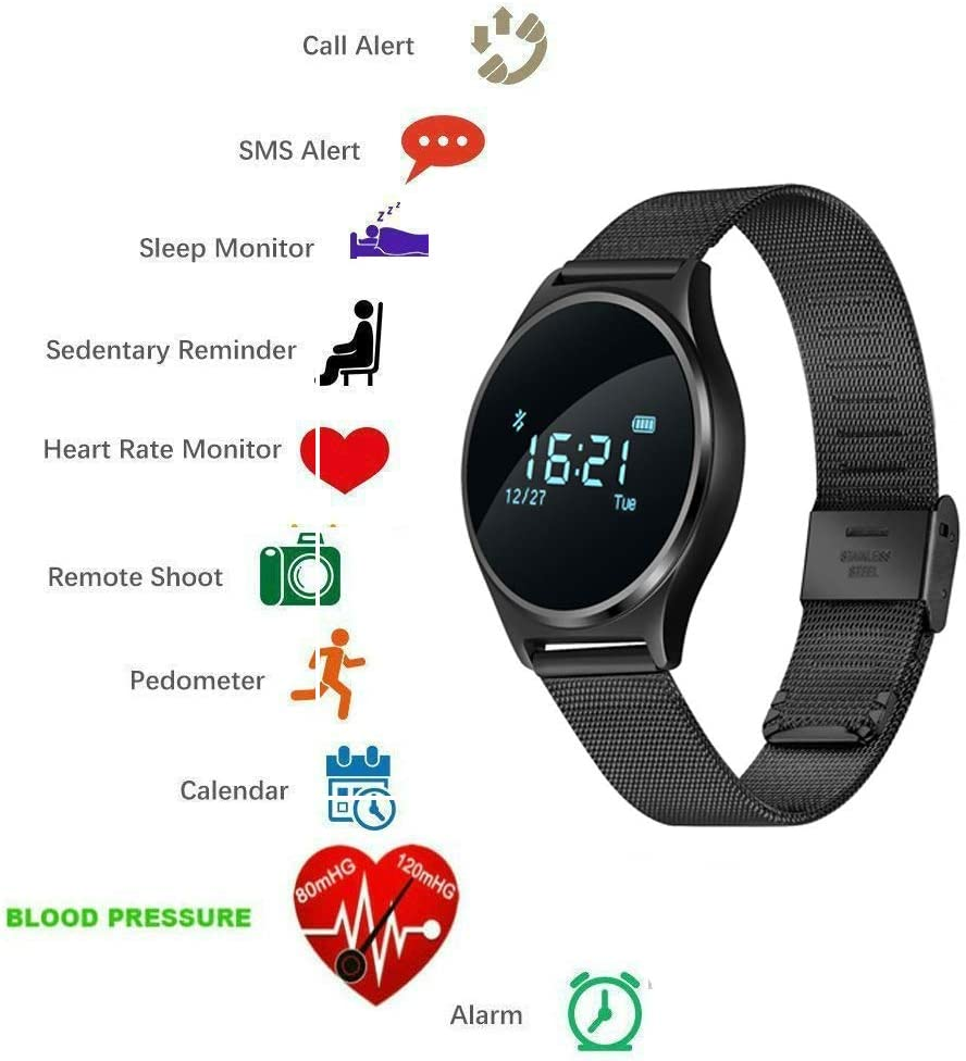 Sports Smartwatch Fitness Tracker with Heart Rate/Blood Pressure Monitor Smart Wristband Call/Messages Reminder Activity Tracker Sleep Monitor for ...