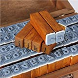 CCINEE Set of 70pcs Vintage Style Wooden Rubber Alphabet Letters Number Stamps by CCINEE