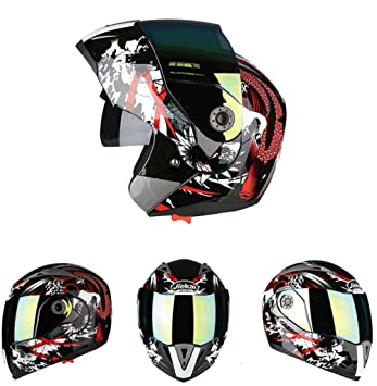 Goooolife Moto Crash Modular Helmet High Safety- JIEKAI Full Face Racing Casco De Moto con Visera para Hombres Adultos Mujeres,M: Amazon.es: Deportes y aire ...