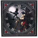 Picture Clock - Dark Angel with Raven