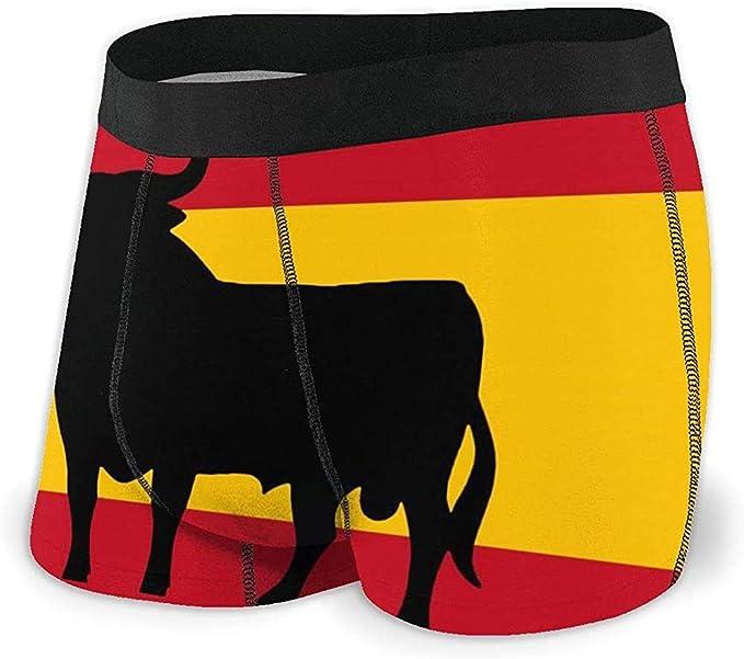 Calzoncillos bóxer para Hombre, Bandera de Toro de España Cómodo, Suave, sin Montar, Ropa Interior, Cinturones para Hombres XL: Amazon.es: Ropa y accesorios