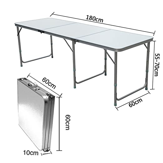 QITAO® 6 ft Aluminio Plegable Mesa de Coche Caravana Buffet/Boda ...