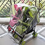 Aligle Twin stroller raincoat Universal Size Side By Side Stroller Weather Shield, Baby Rain Cover/Wind Shield