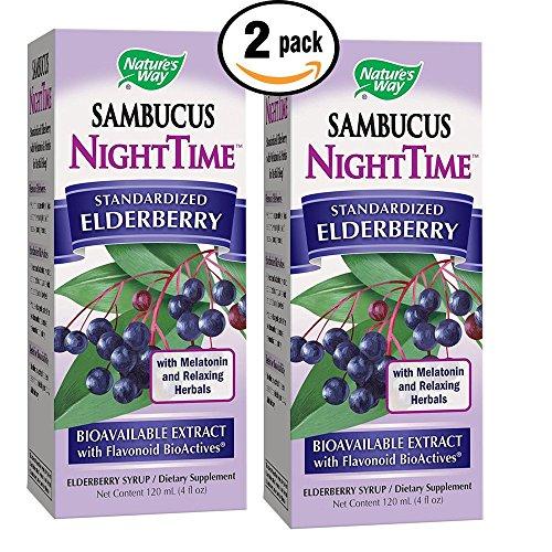 Sambucus Night Time Elderberry Syrup with Standardized BioActives, Melatonin & (Standardized Full Potency Echinacea)