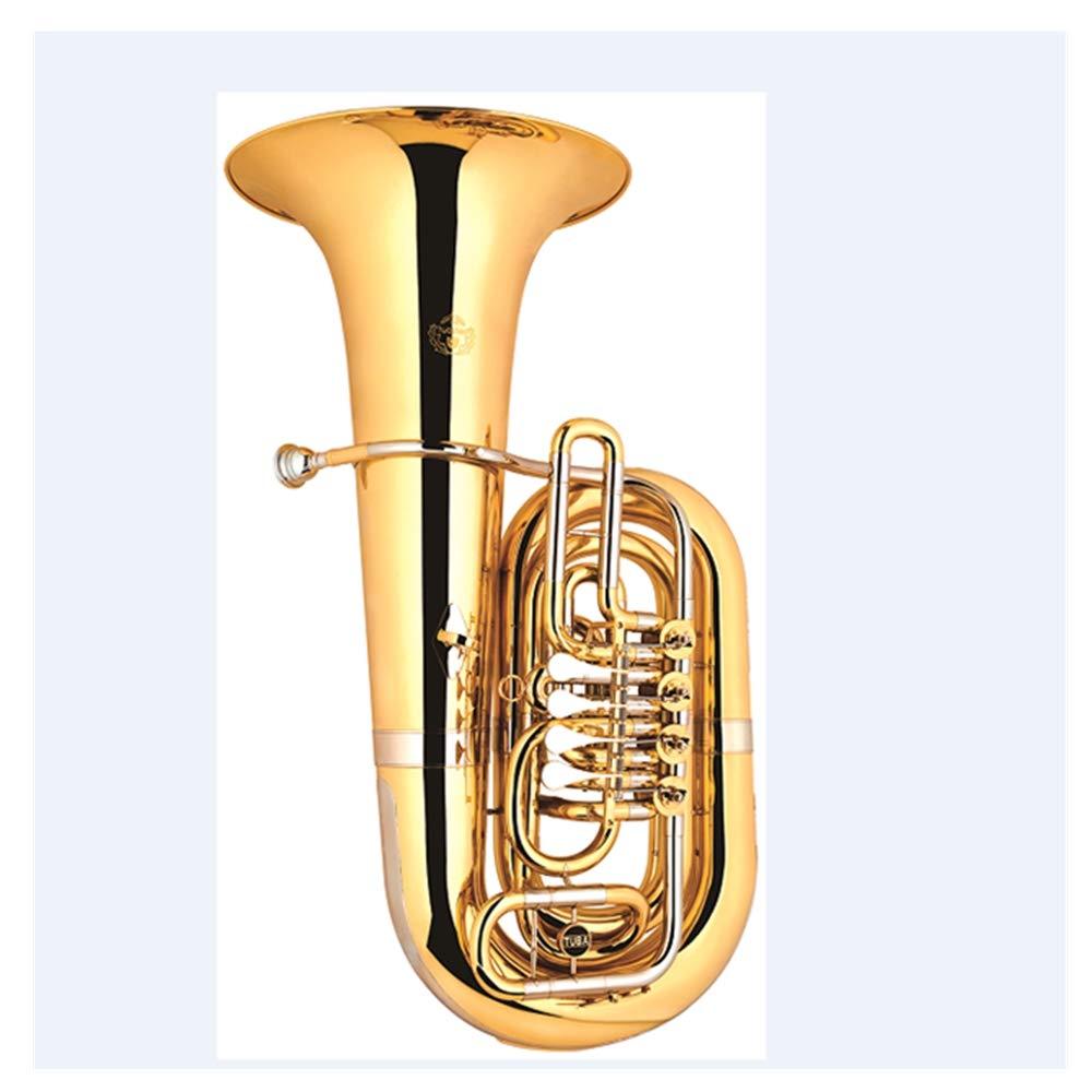 horn trumpet gold color 3 keys 4 keys Bb tuba by SEADOSHOPPING