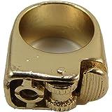 DHLink 17mm Decorative Finger Lighter Ring Punk Vintage Retro Steampunk Gold