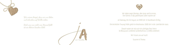 Hochzeitskarten  Einladung natürlich natürlich natürlich Ja 2, hochwertige Einladung zur Heirat inklusive Umschläge   30 Karten (format  148.00x105.00mm) Farbe  Braun B07569X89M | Louis, ausführlich  | Beliebte Empfehlung  | Merkwürdige Form  f2bc7e