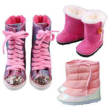 Image Unavailable. Image not available for. Color  Shhanghe Handmade Cute  Gift Dress up Toy Sneaker Warm Fur Shoes Zapf Baby 43cm ... 02f84d37cd81