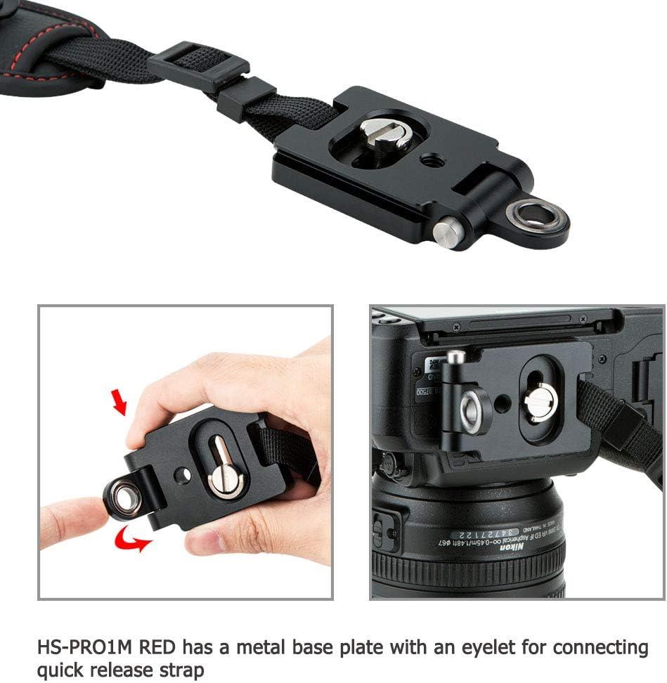Negro cámara muñeca correa de mano w//cuero para Canon Nikon Olympus FES