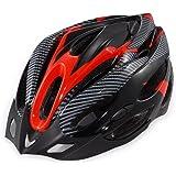 ノーブランド品 自転車用 サイクリング ヘルメットHEL001 (タイプD(赤/黒))