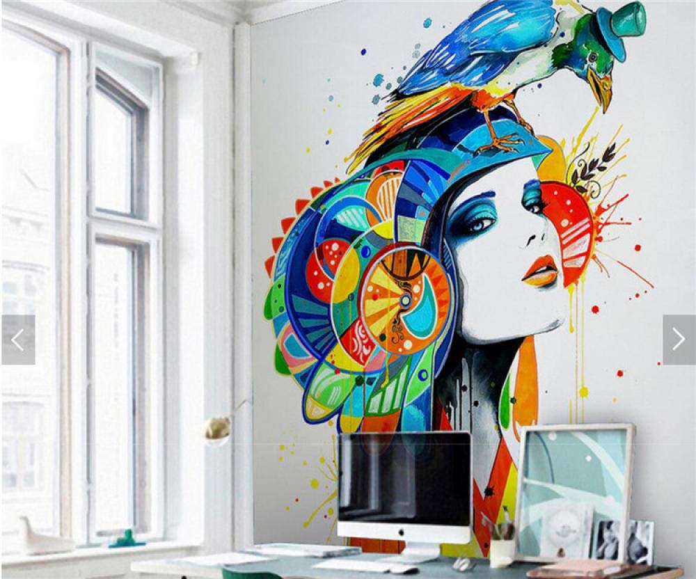 Amazon Com Yynight Sex Girl Parrot Abstract Painting Wall Mural