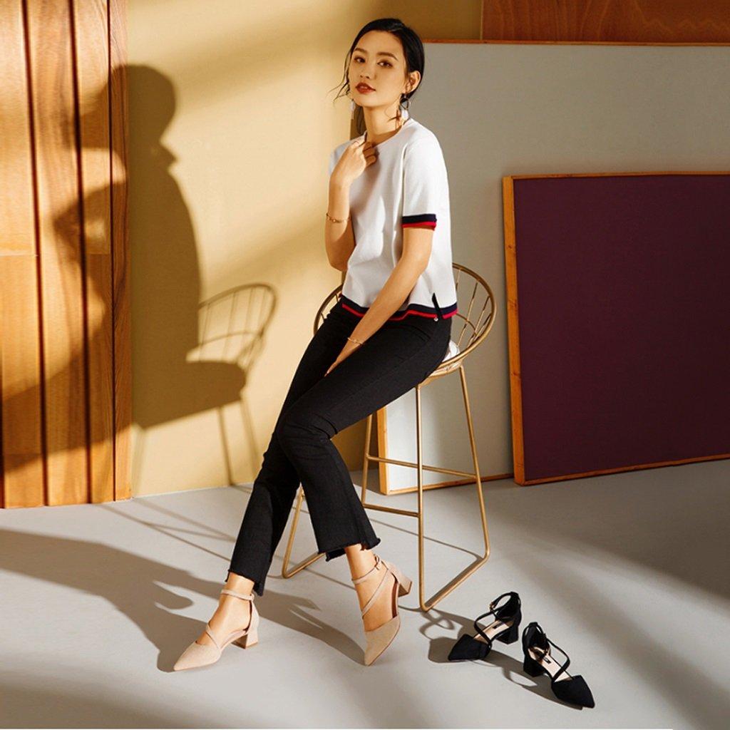 JE JE JE schuhe Weiblicher Spitzer Riemen-Schuh mit Absatz-Schuhen mit Einzelnen Schuhen 528862