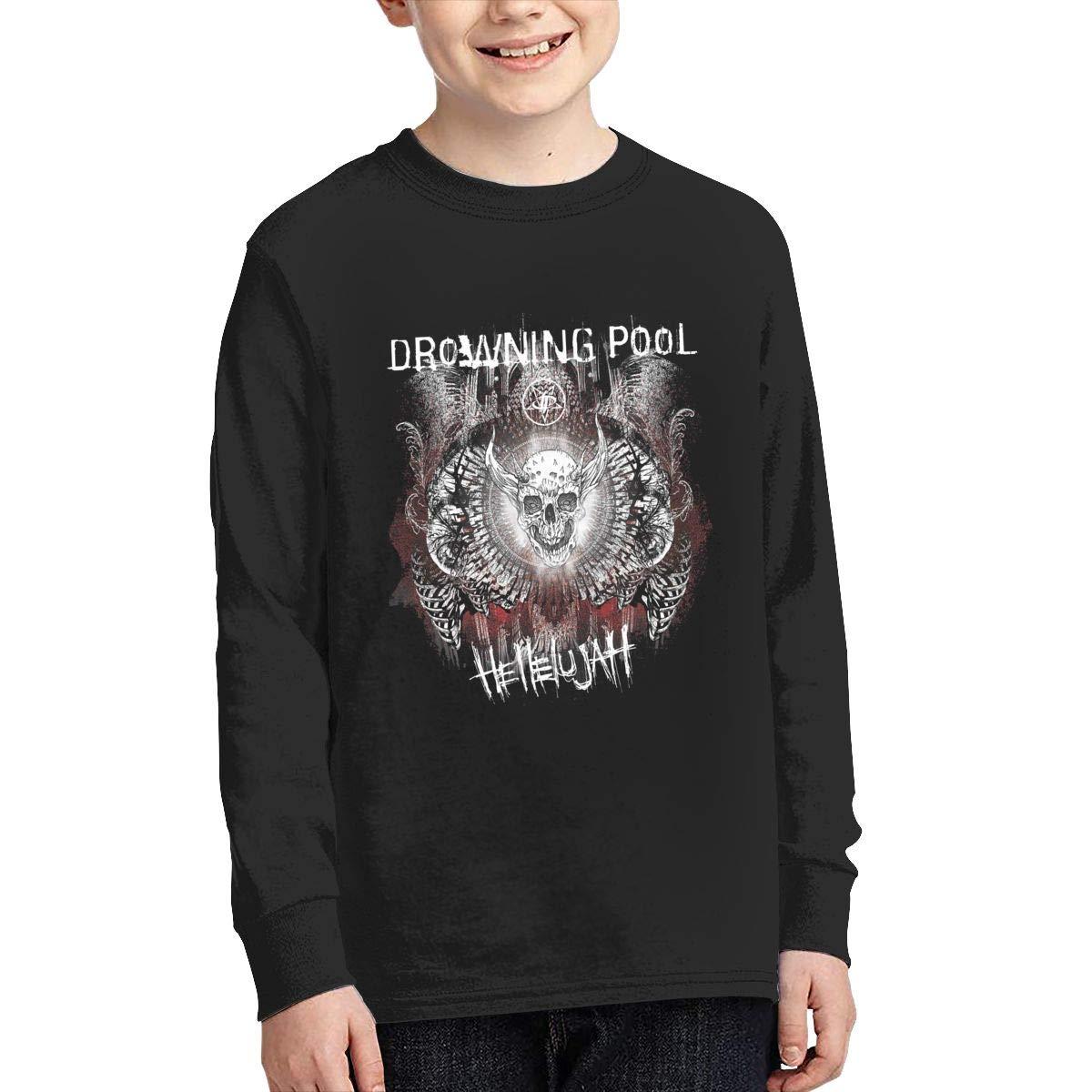 RhteGui Drowning Pool Boys /& Girls Junior Vintage Long Sleeve T-Shirt Black