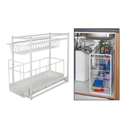7 opinioni per Under Sink Storage Rack Kitchen Unit Bathroom Cupboard Tidy 2 Tier Organiser by