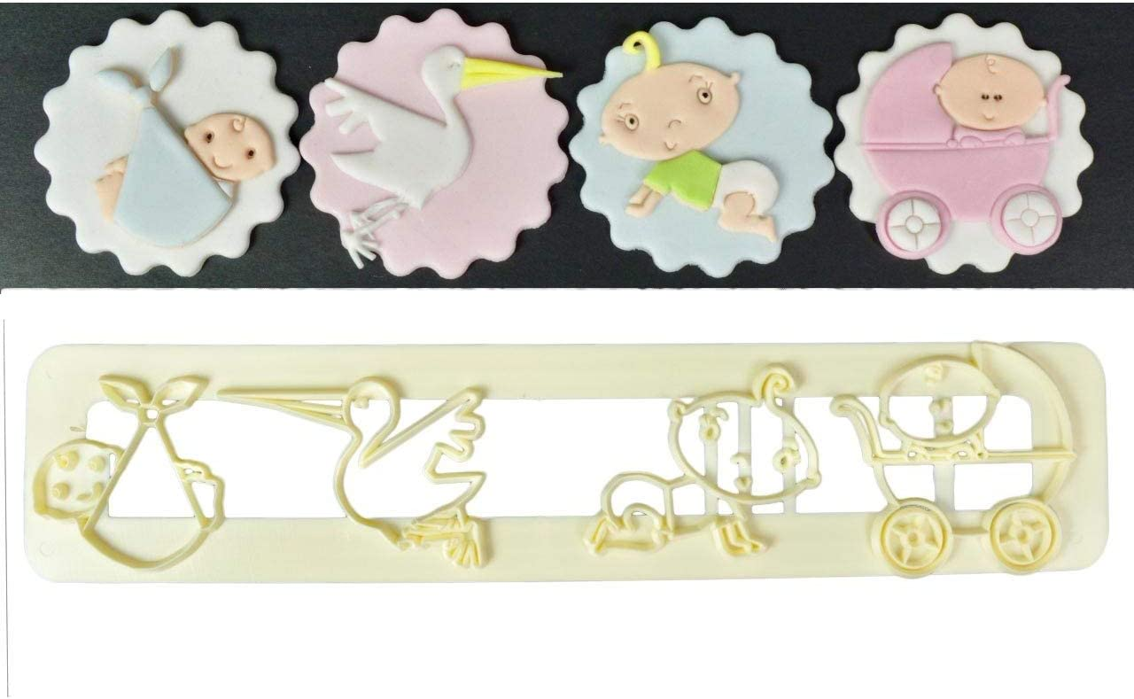 Fondant,Bread Cutter Pastry Biscuit Crawling Baby Cookie Cutters Set of 2