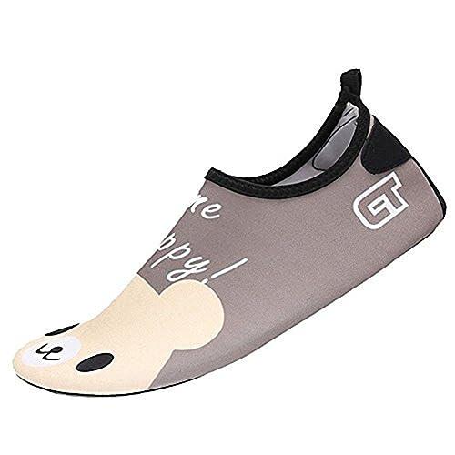 SAGUARO® Estate Bambini Ciabatte Aqua Scarpe Slip On schwimmschuhe leggero  Acqua Scarpe antiscivolo spiaggia scarpe cfc8565e02f