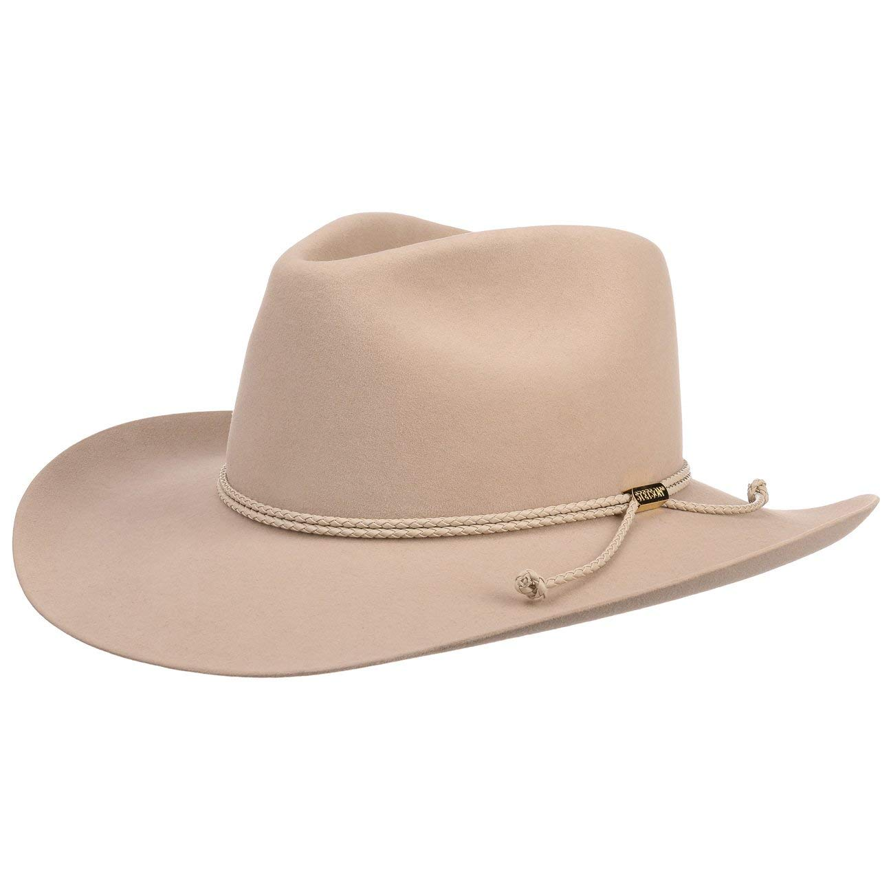 Stetson Carson Outdoor Cowboy Hat Men | Made in USA Felt Fur Men´s with Lining Summer-Winter