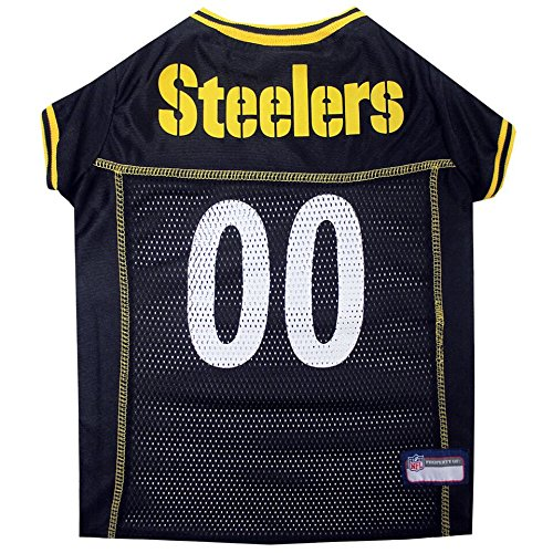 Nfl Pet Bed (PITTSBURGH STEELERS Dog Mesh Jersey ALL SIZES Licensed NFL (Small))