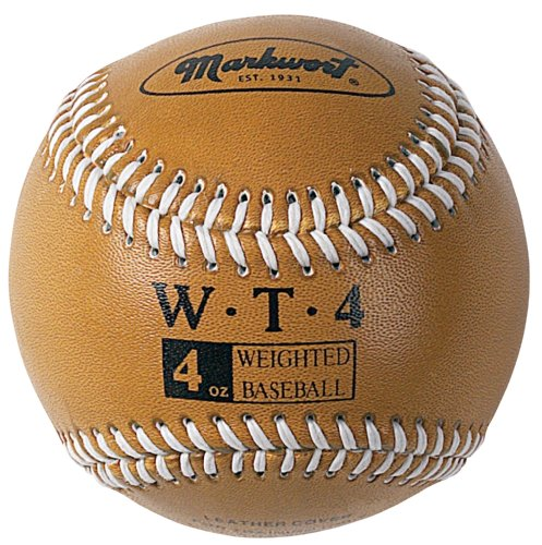 Markwort Weighted 9-Inch Baseballs-Leather Cover (Individually Boxed), Gold