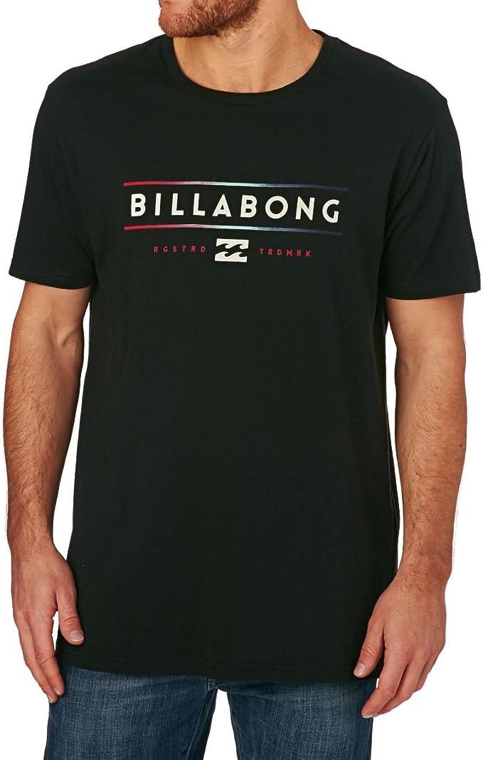 BILLABONG Unity T Camiseta de Manga Corta con Estampado, Hombre, Negro, M: Amazon.es: Deportes y aire libre
