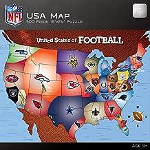 MasterPieces NFL Map Puzzle, 500-Piece