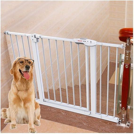 HFYAK Bebé Puerta Escalera Metal Puerta Seguridad para Perro Mascota Puerta Bidireccional 180 ° Sin Agujeros En La Pared Instalar Cualquier Lugar Valla Seguridad para Pasillo: Amazon.es: Hogar