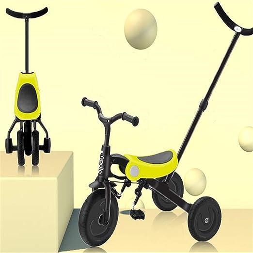 BABIFIS Bicicletas de Equilibrio de Tres Ruedas para niños pequeños/Bicicleta Triciclo/Andador/Carrito, Plegado con un Solo Clic, Ligero y fácil de Transportar, 3 Colores: Amazon.es: Hogar