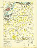 1947 Bristol, PA | USGS Historical Topographic Map |Fine Art Cartography Reproduction Print