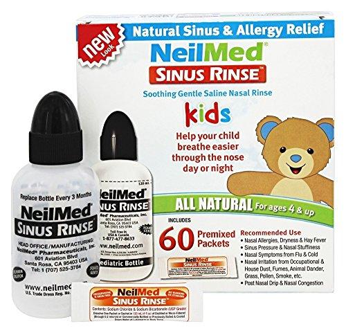 (NeilMed Pharmaceuticals - Sinus Rinse Kids All Natural Kit - 60 Premixed Packets)