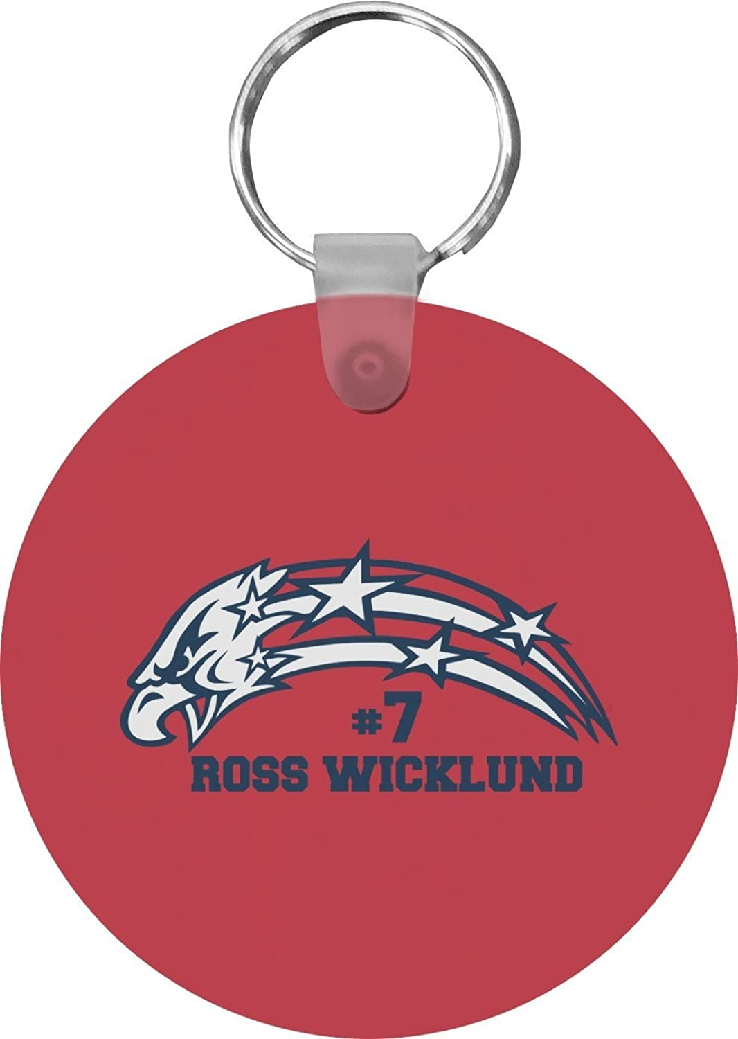 DHS Star & Stripes Round Keychain (Personalized)