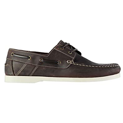 Mens caravel Boat Lace Up Shoes Stitched Detailing Casual Everyday