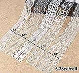 ilauke White Lace Ribbon 14 Rolls Lace Trims 0.6 to