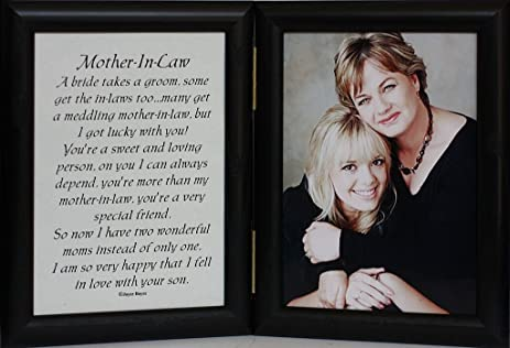 5x7 hinged mother in law poem gift for mother in law - Mother Of The Bride Picture Frame