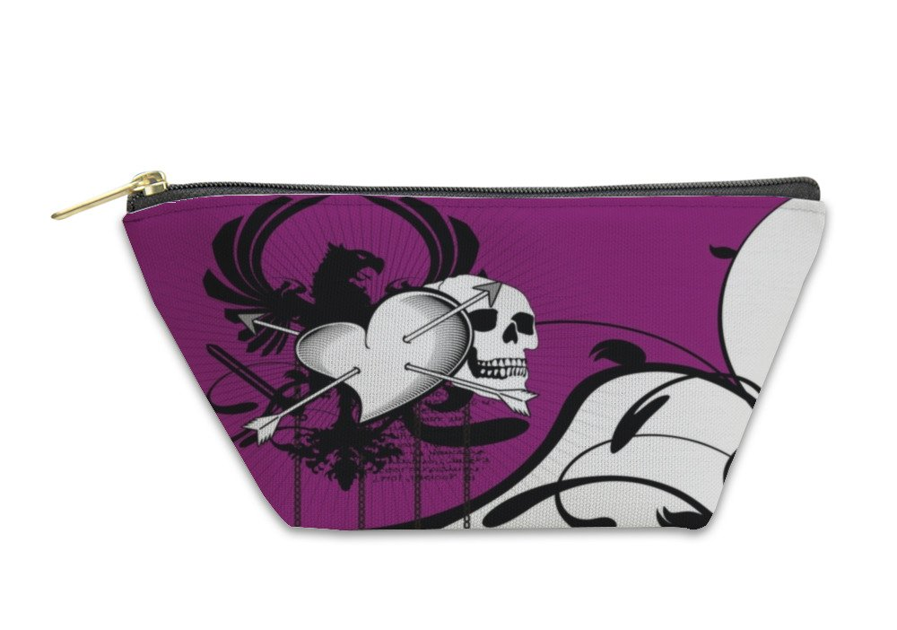 Gear New Accessory Zipper Pouch, Heraldic Heart Coat Of Arms Crest 1, Small, 6034282GN