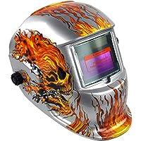 Masque de soudeur, Énergie solaire auto-obscurcissant Capuche Masque de soudeur meulage casques avec abat-jour réglable Gamme pour soudure machine, outil d'Assombrissement automatique