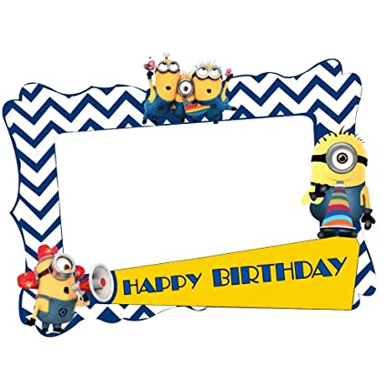 Buy Party Propz Minion Photobooth Frame 2Ft Online at Low Prices in ...