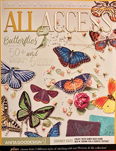 Anita Goodesign All Access VIP Club April 2018 Embroidery Machine Designs CD & Book