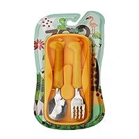 Catschat - 2 pieza para niños cubertería -1 x cena tenedor, 1 x cena cuchara