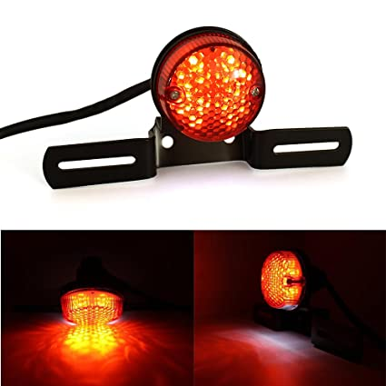 Universal Red Cross Led Rear Tail Brake License Plate Light For Choppers Quads High Quality Accessories