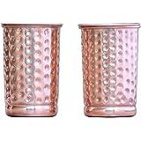 Hammered Copper Tumbler Set of 2   Traveller's Copper Mug   Ayurveda Health Benefit by HealthGoodsEU