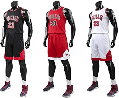 Chico Hombre NBA Michael Jordan # 23 Chicago Bulls Retro Pantalones Cortos de Baloncesto Camisetas de Verano Uniformes y Tops de Baloncesto Uniformes (Blanco, 3XL): Amazon.es: Ropa y accesorios