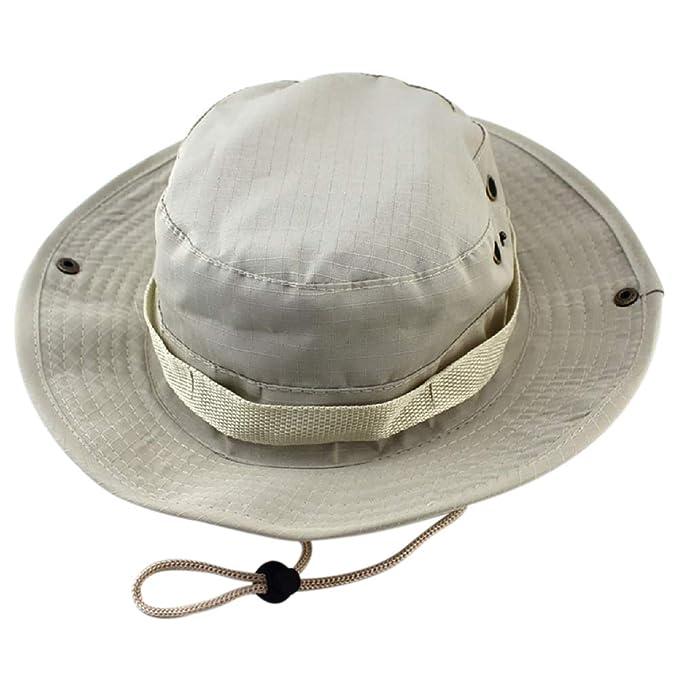 Gorro de Pesca para Hombres Mujeres-Protección Solar Sombrero Unisex Nylon Verano Sombreros para Caza Jardinería o Actividades al Aire Libre: Amazon.es: ...