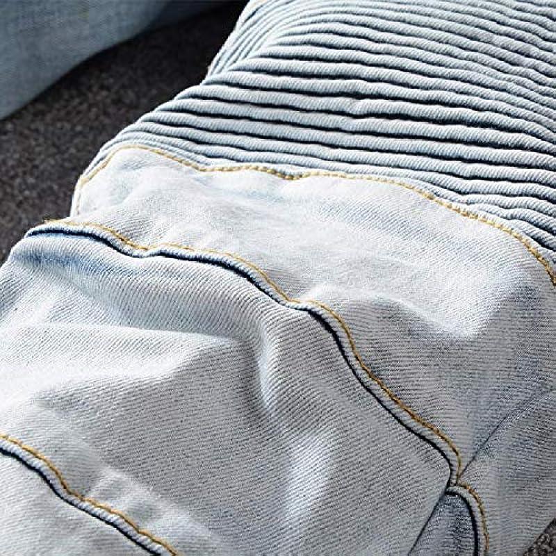 Hddyj męskie dżinsy splecione Punk dżinsy męskie cargo splecione dżinsy: Odzież