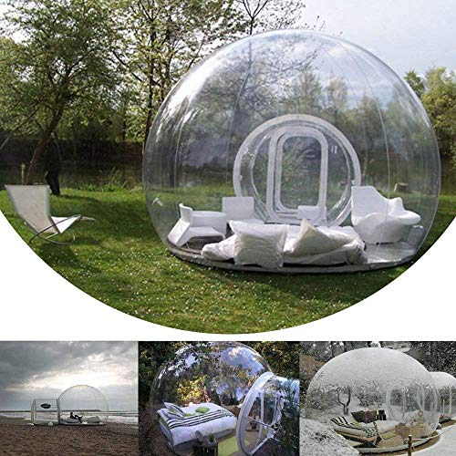 Drohneks Inflatable Bubble Camping Tent with Single Tunnel Used As Backyard Transparent Tent with Blower and Air Pump