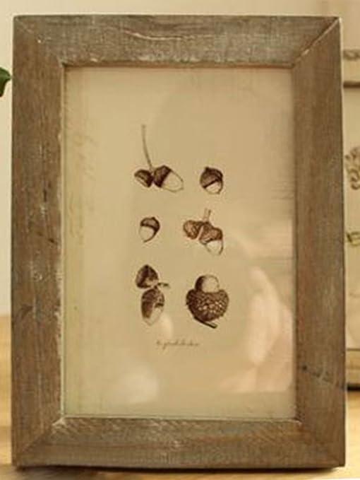 chezmax elegante marco de fotos de madera rectangular ...