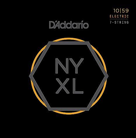 DAddario NYXL1059 Nickel Wound juego de cuerdas para bajo 7-cuerdas para guitarra