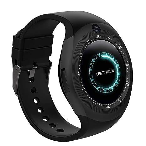Bluetooth Smart Watch Reloj Inteligente Teléfono Inteligente Pantalla Táctil con Ranura para Tarjeta SIM/sedentario
