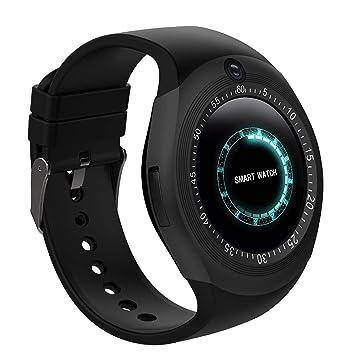 Montre Connectée, Bluetooth Smartwatch Montre Sport Carte Sim de Soutien et Carte de TF Caméra